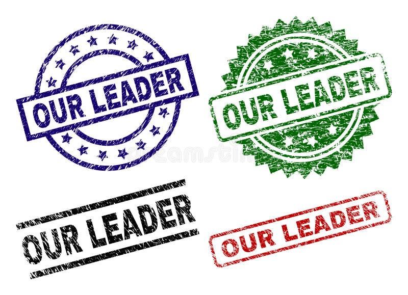 损坏构造我们的领导人封印邮票 库存例证