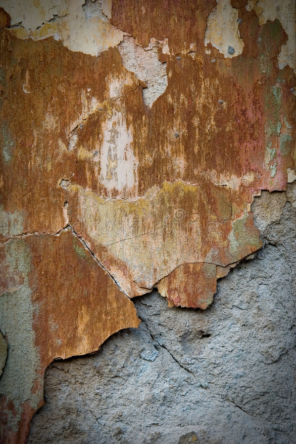 损坏的坏的生锈的墙壁 库存图片
