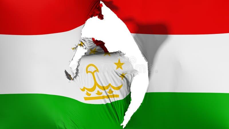 损坏的塔吉克斯坦旗子 向量例证