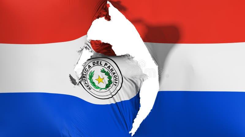 损坏的巴拉圭旗子 皇族释放例证