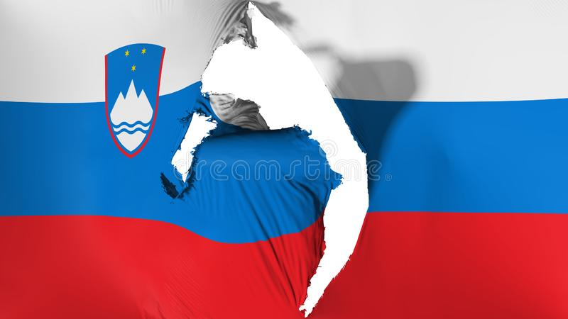 损坏的斯洛文尼亚旗子 向量例证