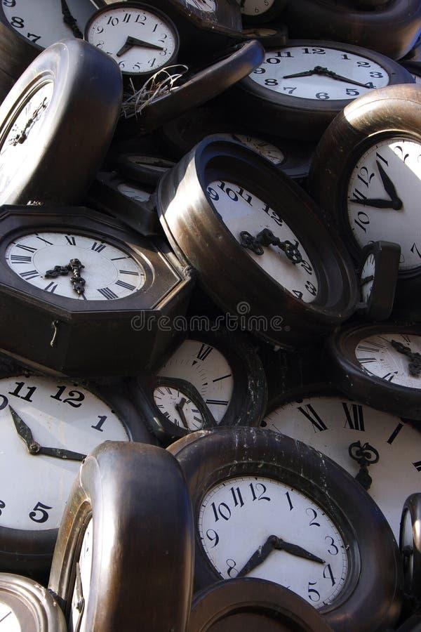 损坏的时钟 免版税库存图片
