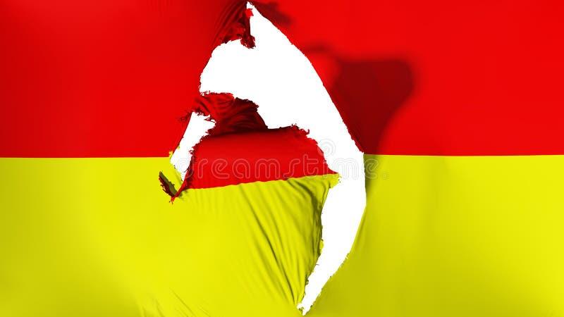 损坏的比勒陀利亚市旗子 库存例证