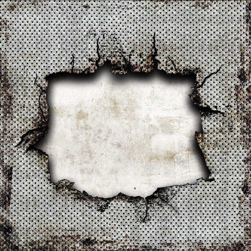损坏的牌照钢 免版税库存图片