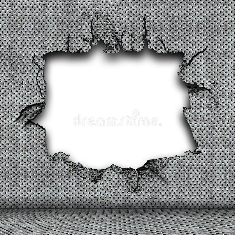 损坏的牌照钢 库存图片