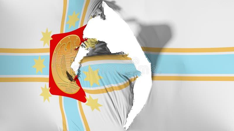 损坏的第比利斯市旗子 向量例证