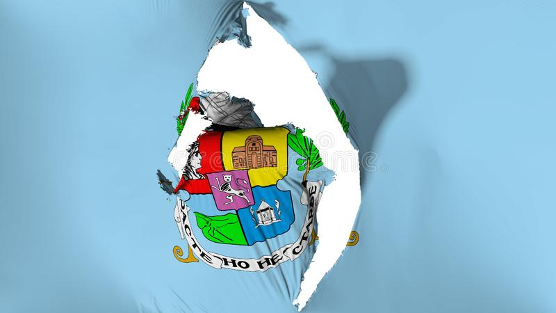 损坏的索非亚市旗子 皇族释放例证