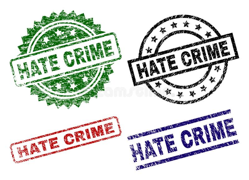 损坏的织地不很细因仇恨造成的犯罪封印邮票 向量例证