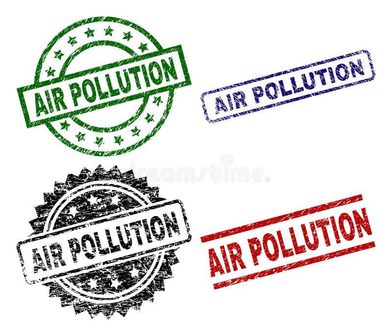 损坏的织地不很细大气污染封印邮票 皇族释放例证