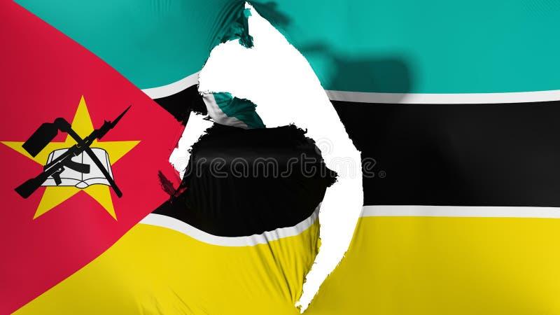 损坏的莫桑比克旗子 皇族释放例证