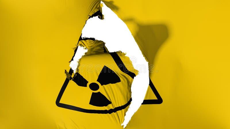 损坏的辐射旗子 皇族释放例证