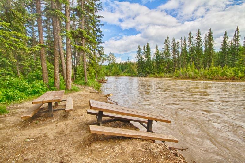 洪水损坏的野餐区 图库摄影