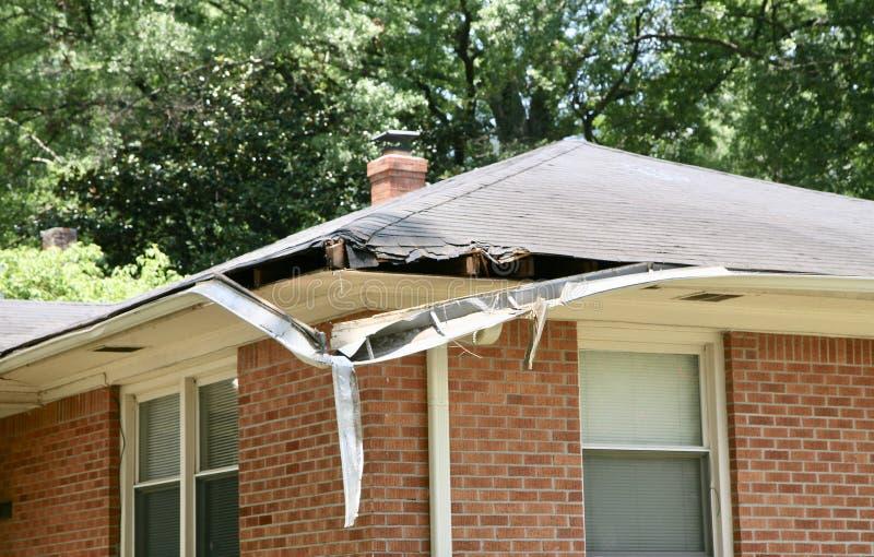 损坏的风暴在家 免版税库存照片