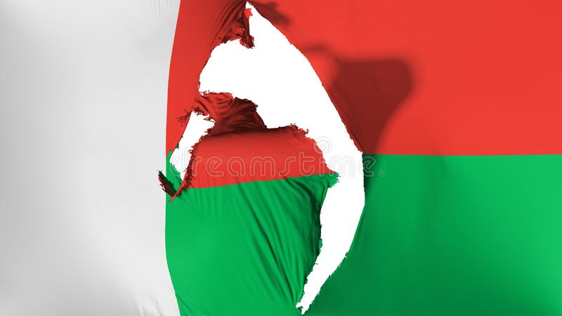损坏的马达加斯加旗子 向量例证
