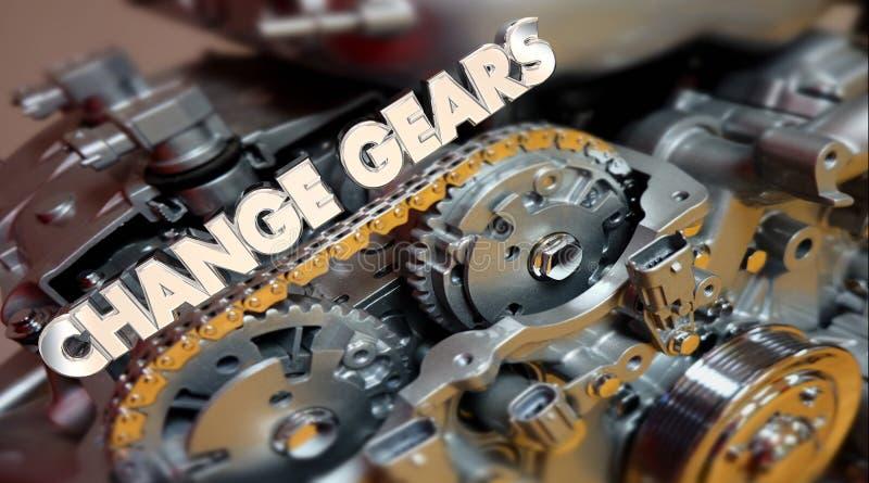 更换引擎演变转移词的齿轮 皇族释放例证