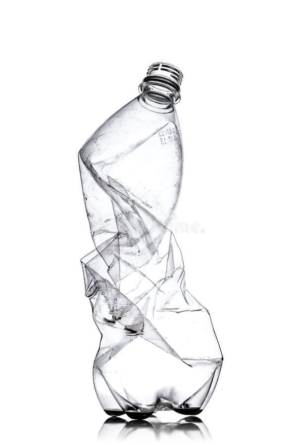 捣毁的塑料瓶 免版税库存照片