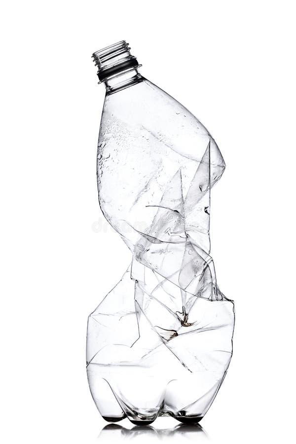 捣毁的塑料瓶 图库摄影