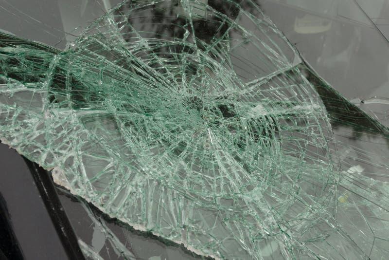 捣毁的挡风玻璃 免版税图库摄影