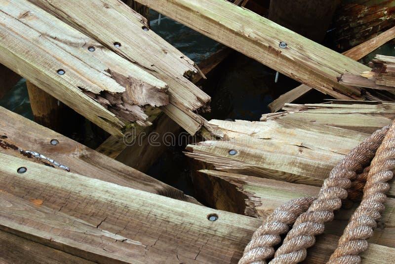 捣毁的木头 库存图片