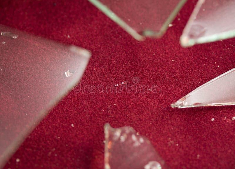 捣毁的玻璃 库存照片