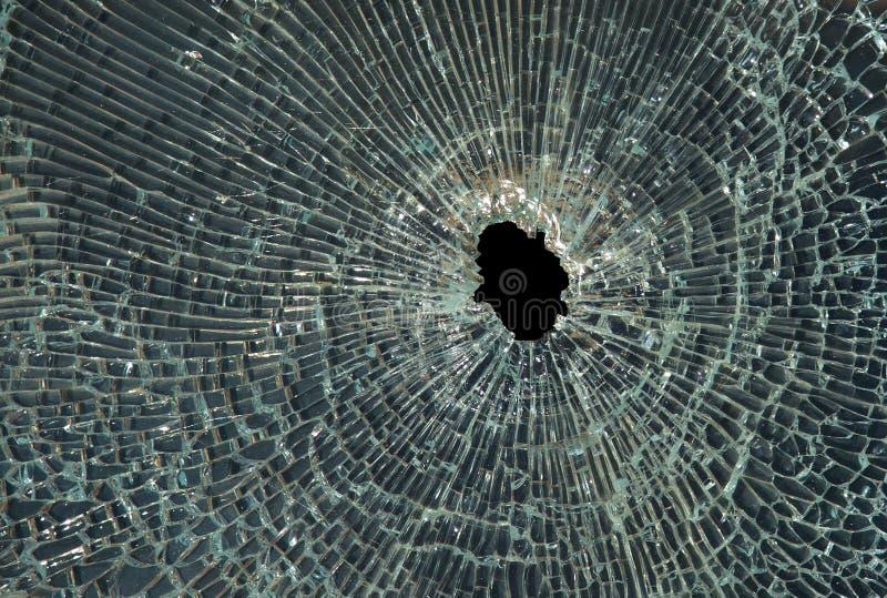捣毁的玻璃 图库摄影
