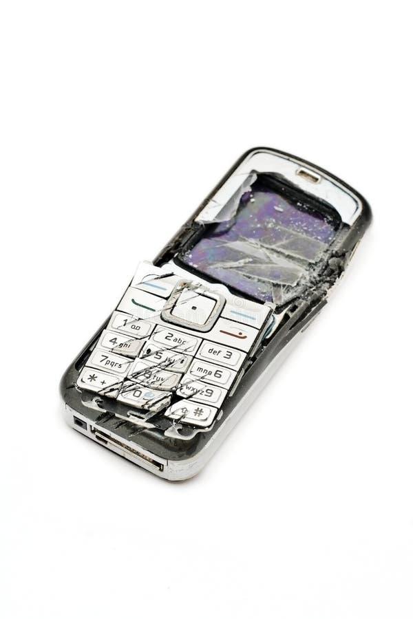 捣毁的移动电话 免版税库存照片
