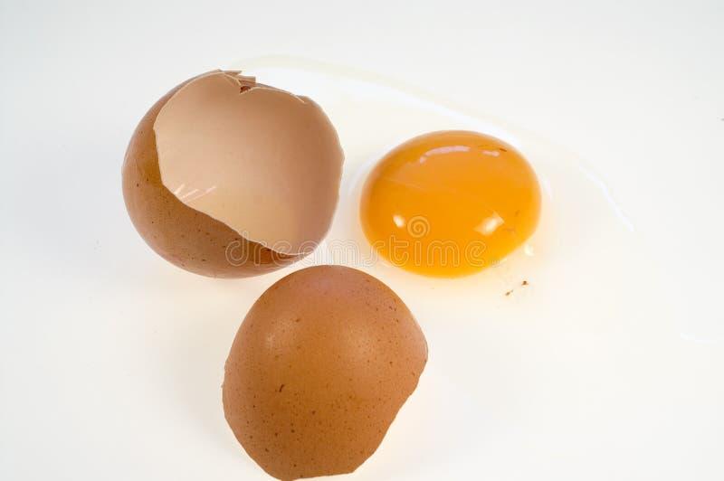 捣毁的鸡蛋 免版税库存图片
