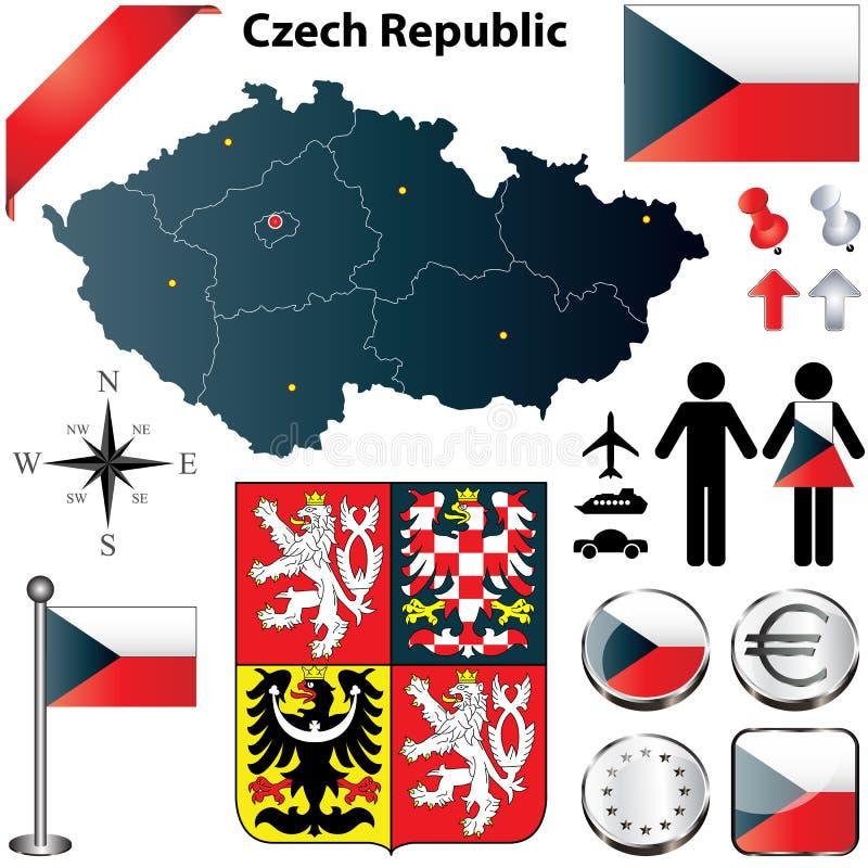 捷克共和国映射 库存例证