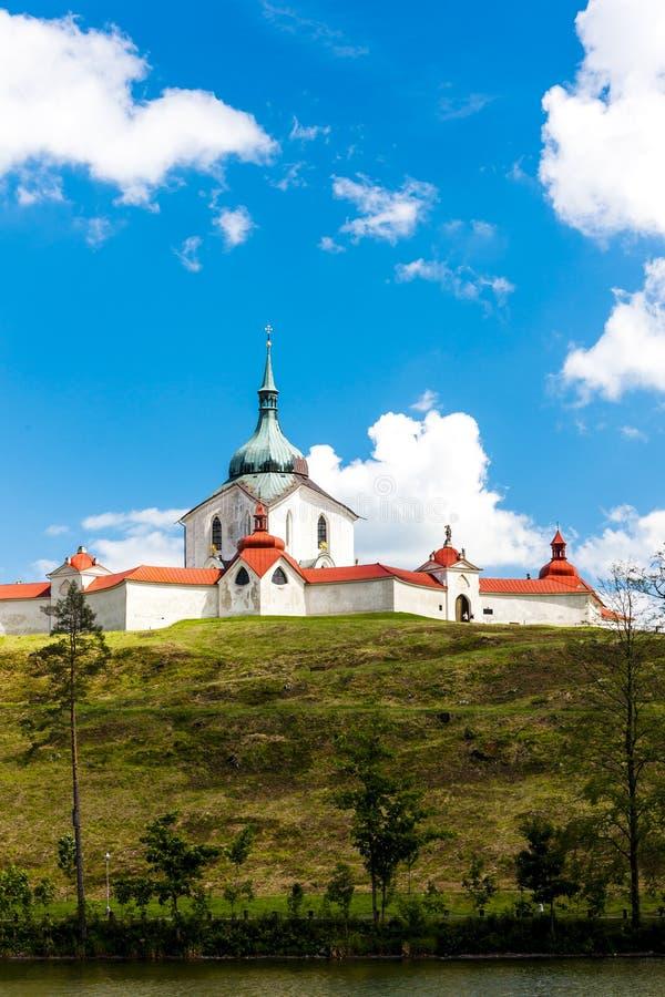 捷克共和国Zdar nad Sazavou附近的Zelena Hora 免版税库存图片