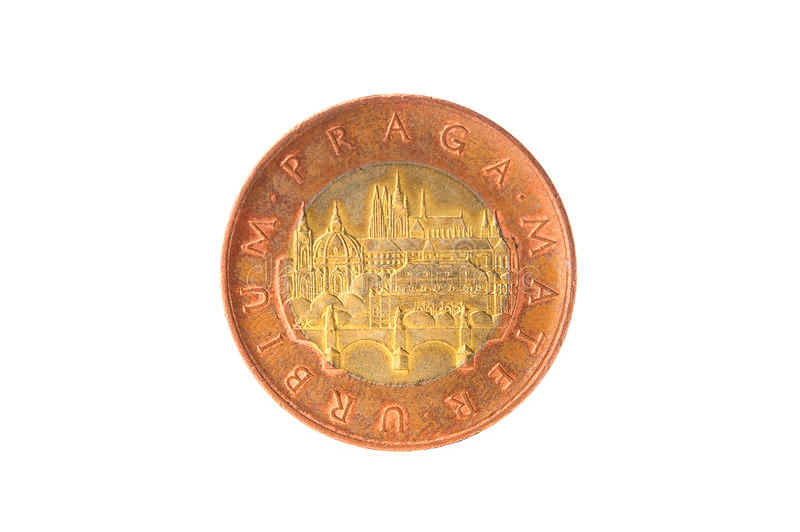 捷克冠硬币 免版税图库摄影