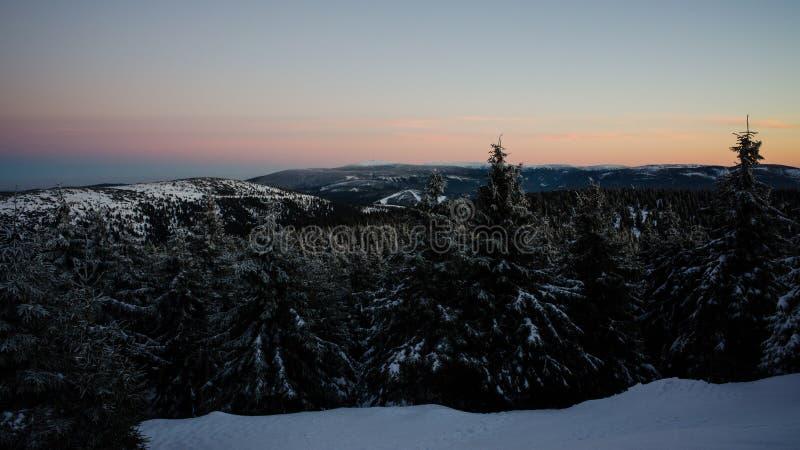 捷克冬天风景 免版税库存照片