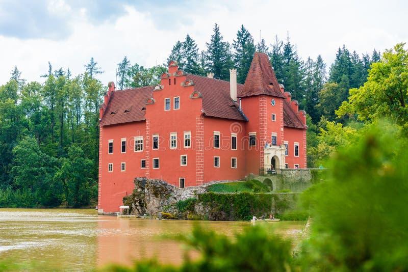 捷克南波希米亚浪漫的Cervena Lhota红堡 库存照片