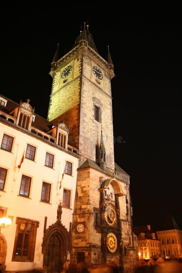 捷克大厅老布拉格共和国城镇 图库摄影