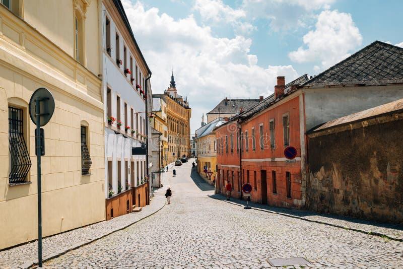 捷克奥洛穆克中世纪老街 库存图片