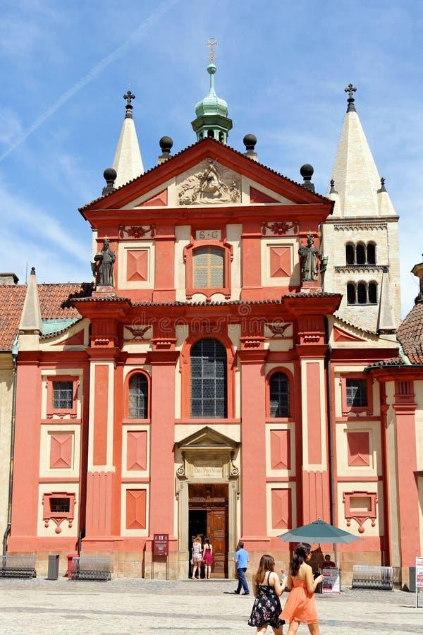 捷克布拉格圣乔治大教堂 免版税库存照片