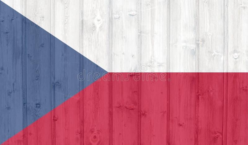 捷克旗子 皇族释放例证