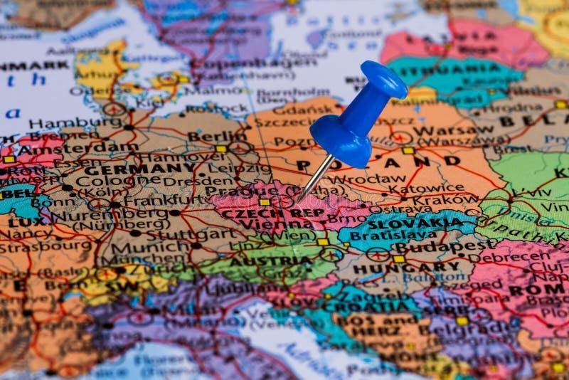 捷克映射共和国 免版税图库摄影
