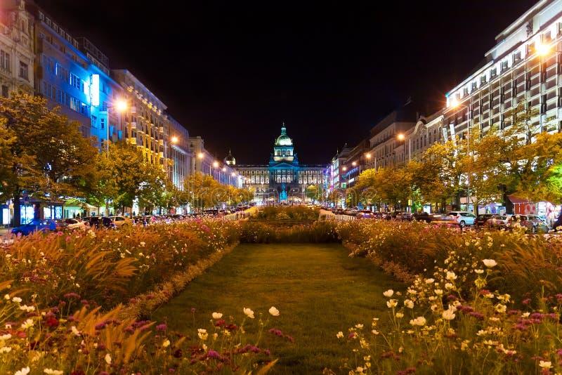 捷克晚上布拉格共和国 免版税库存照片