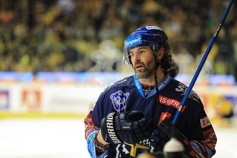 捷克最好的冰球选手雅罗米尔·贾格尔 库存图片