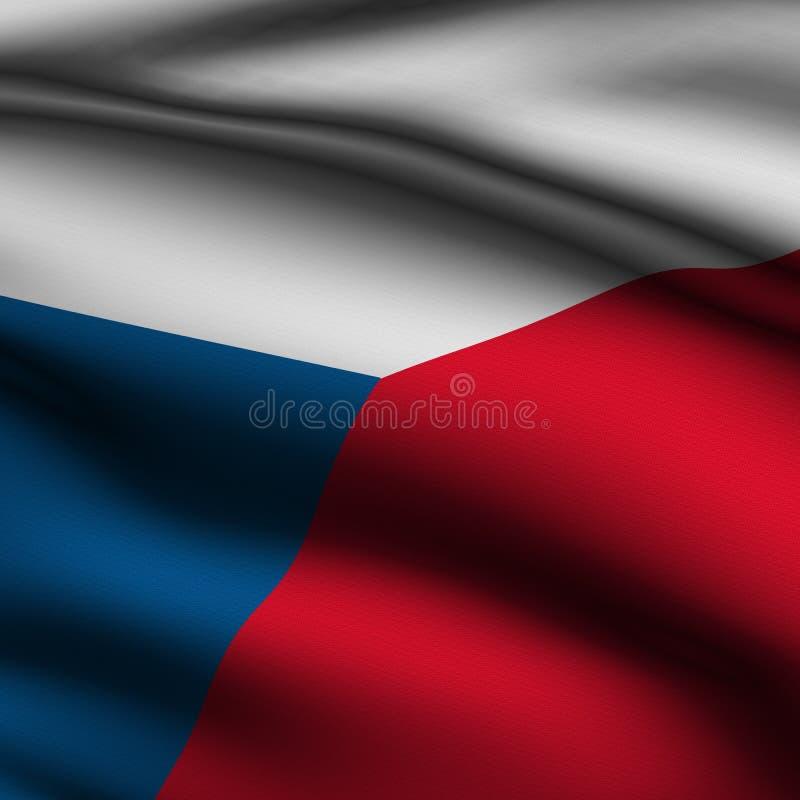 捷克标志回报了正方形 向量例证