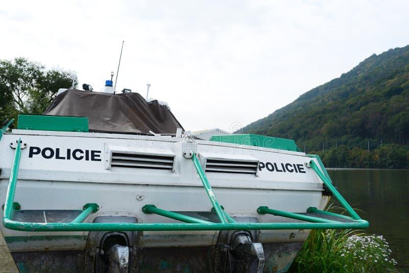 捷克河警 库存图片