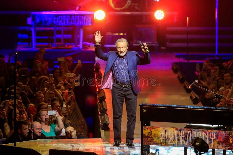 捷克流行歌手卡雷尔·戈特 库存照片