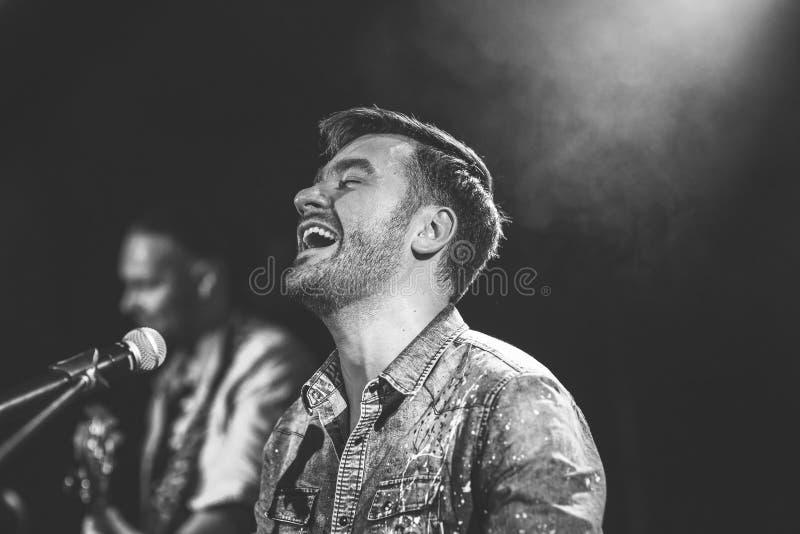捷克流行歌手马雷克·兹特拉切尼 免版税库存照片