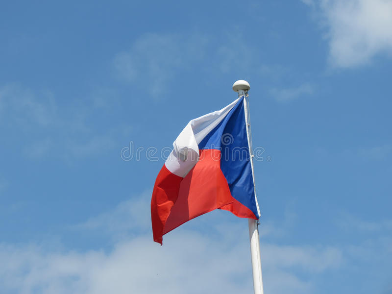 捷克的捷克旗子 免版税库存图片