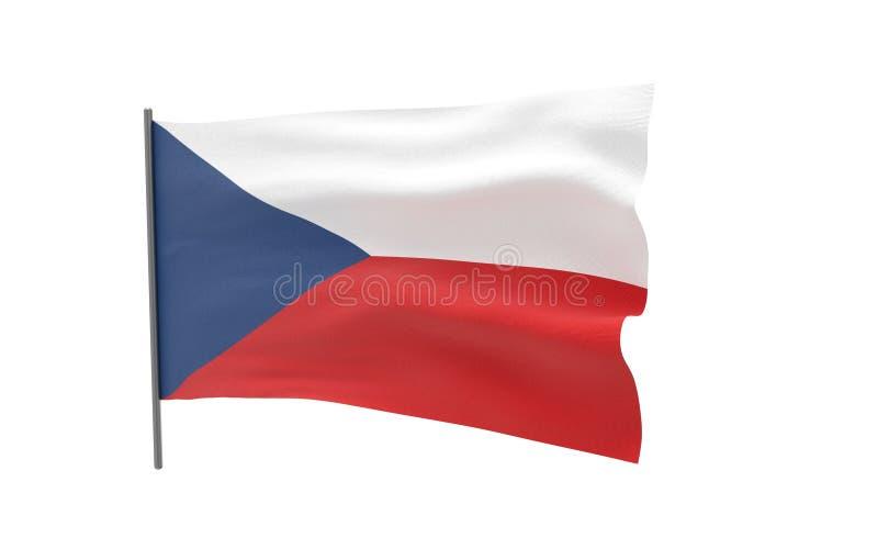 捷克的旗子 向量例证