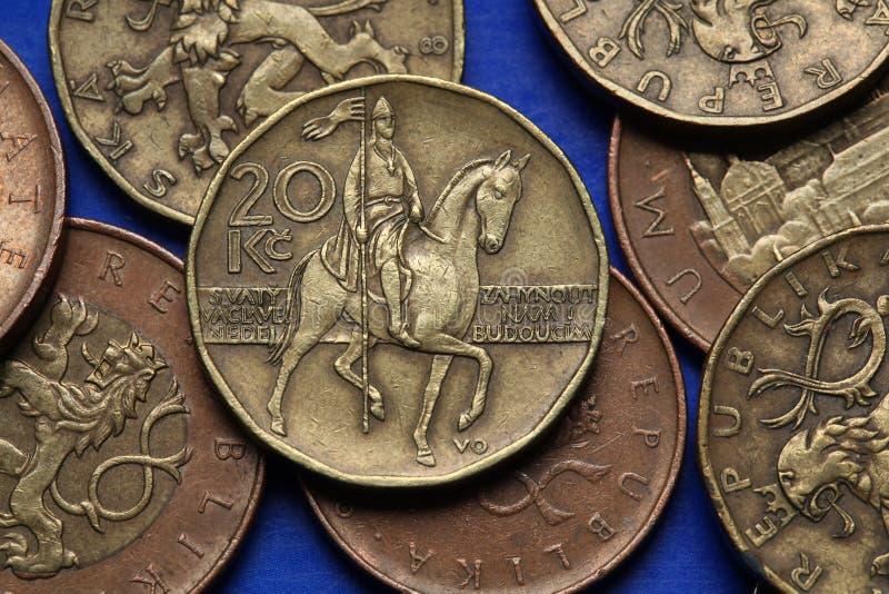 捷克的硬币 免版税库存照片