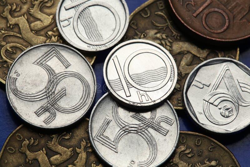 捷克的硬币 库存图片