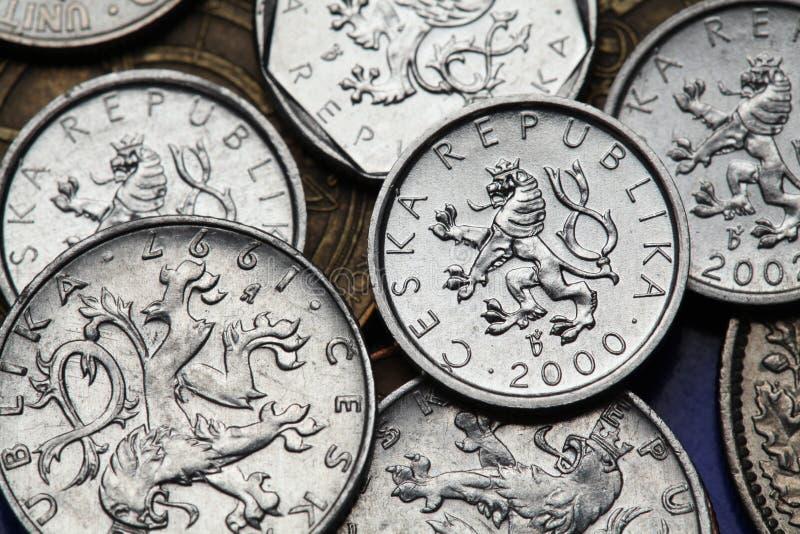 捷克的硬币 图库摄影