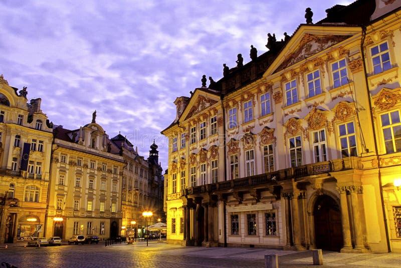捷克老布拉格共和国正方形城镇 免版税库存照片