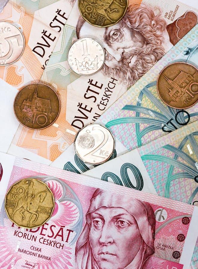 捷克货币 库存照片